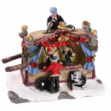 Kersthuisje poppentheater kraam