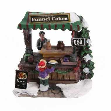 Kersthuisje trechtercake kraam