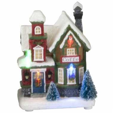 Winter huisje koffie led licht