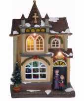 Kerstdorp maken kersthuisje met led licht type 4