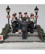 Kersthuisje accessoire leger des heils koor met verlichting